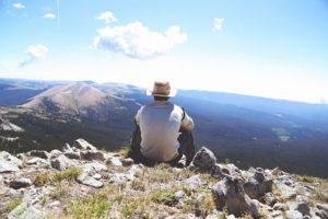 hiking på berg